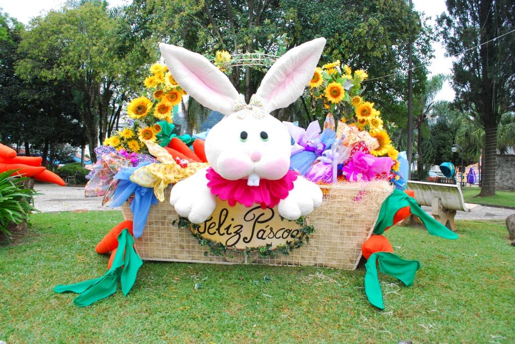 Decoraç u00e3o de Páscoa de Videira encanta visitantes Rota da Amizade -> Decoração De Pascoa Jardim